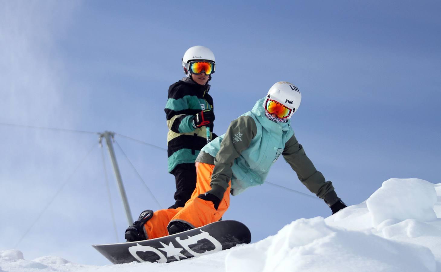 El primer día de esquí
