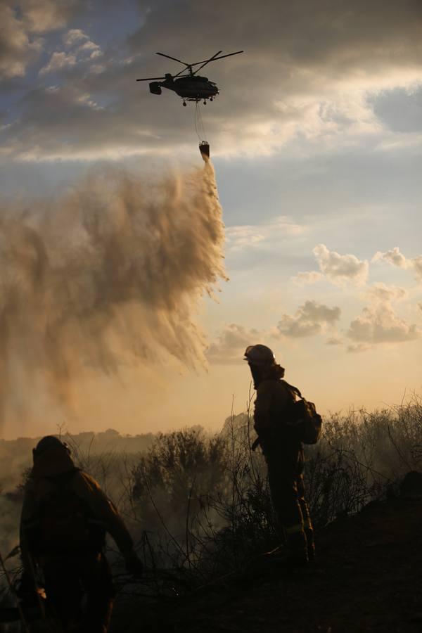 Incendio en un paraje cercano a la rambla de los Álamos de Motril