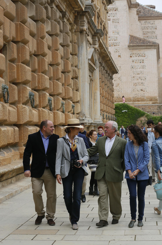 La Infanta Elena, de visita en la Alhambra